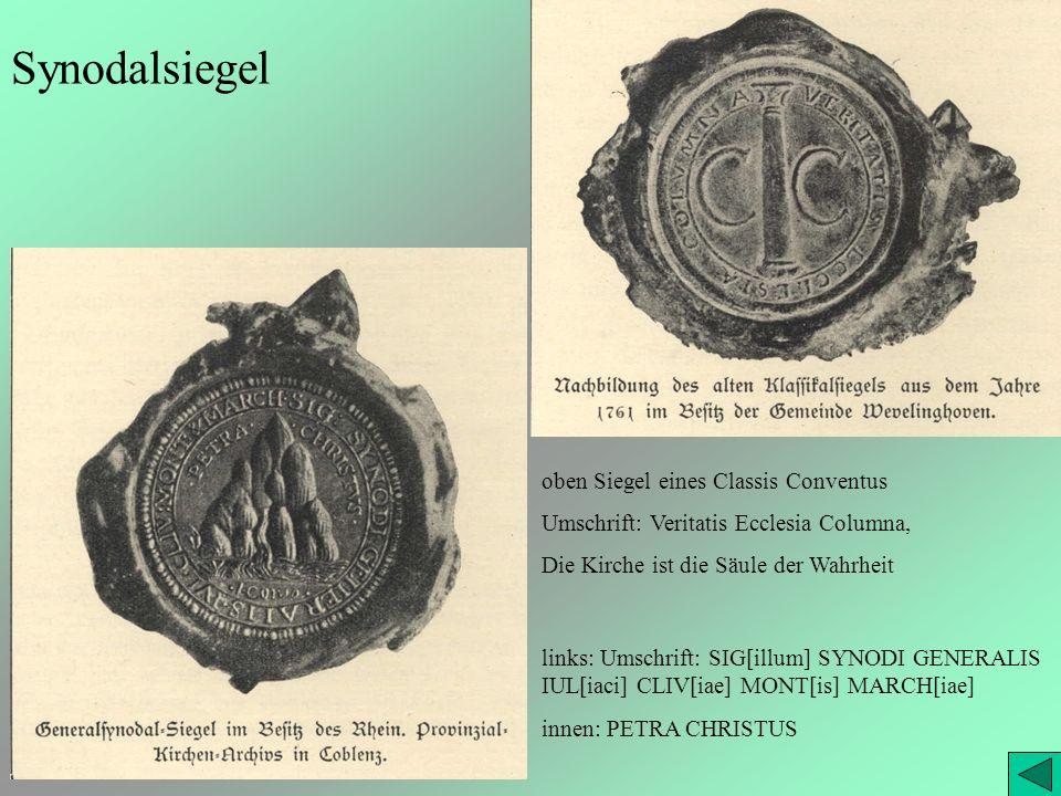 Synodalsiegel oben Siegel eines Classis Conventus