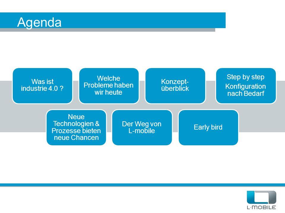 Agenda Was ist industrie 4.0 Welche Probleme haben wir heute
