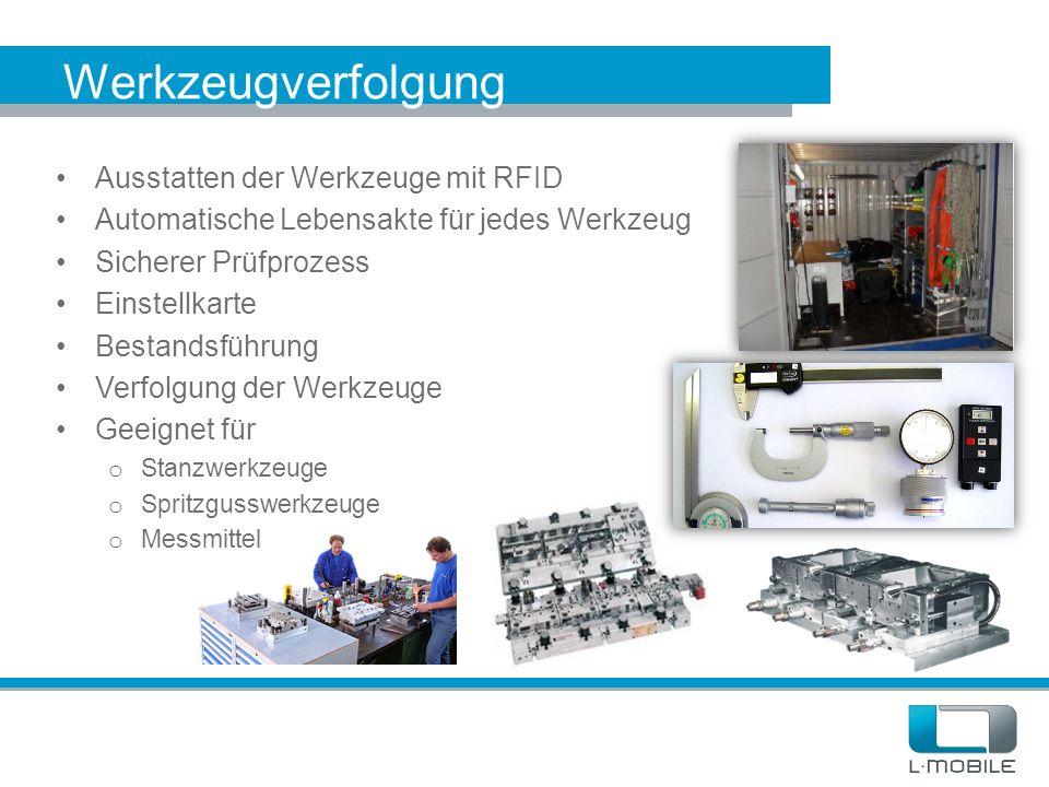Werkzeugverfolgung Ausstatten der Werkzeuge mit RFID