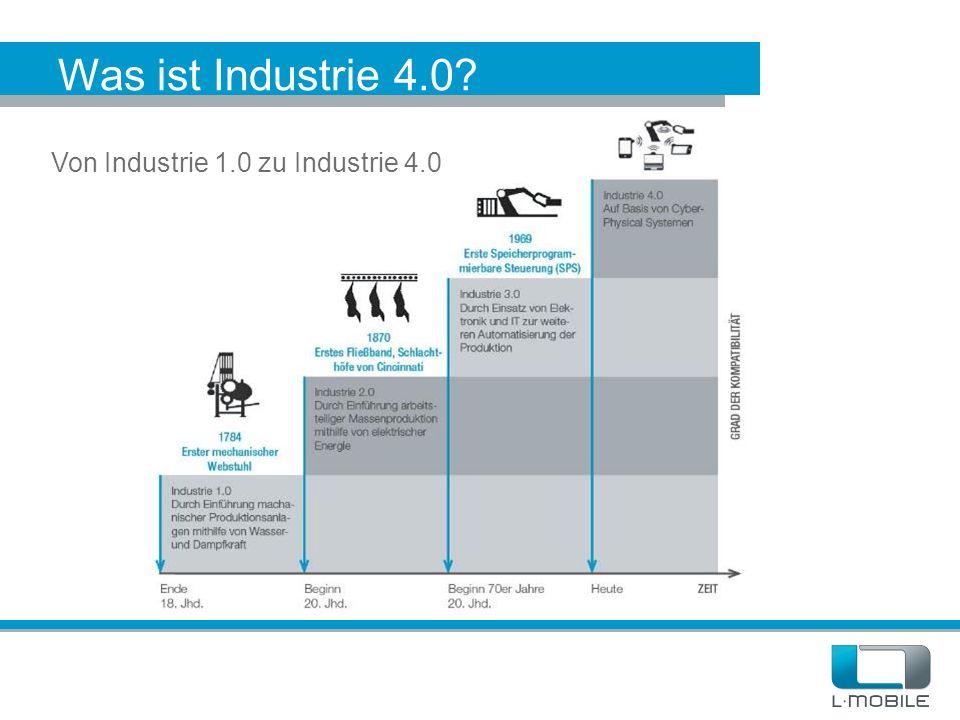 Was ist Industrie 4.0 Von Industrie 1.0 zu Industrie 4.0