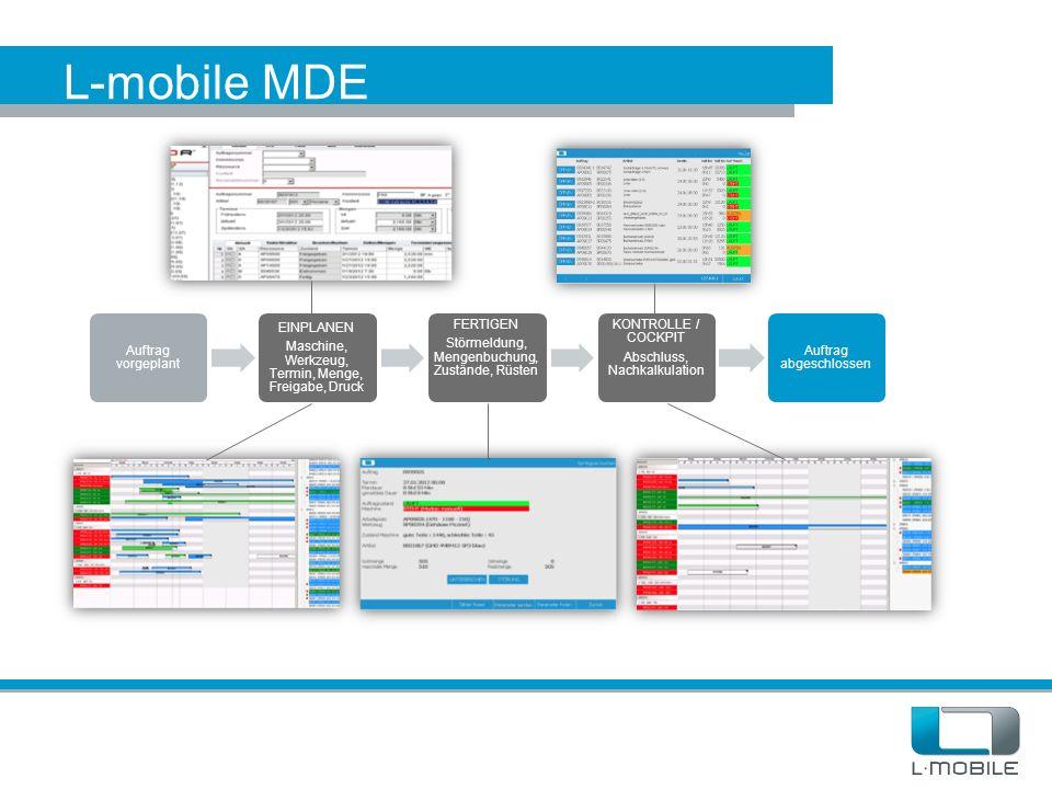 L-mobile MDE Auftrag vorgeplant EINPLANEN