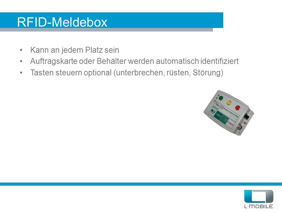 RFID-Meldebox Kann an jedem Platz sein