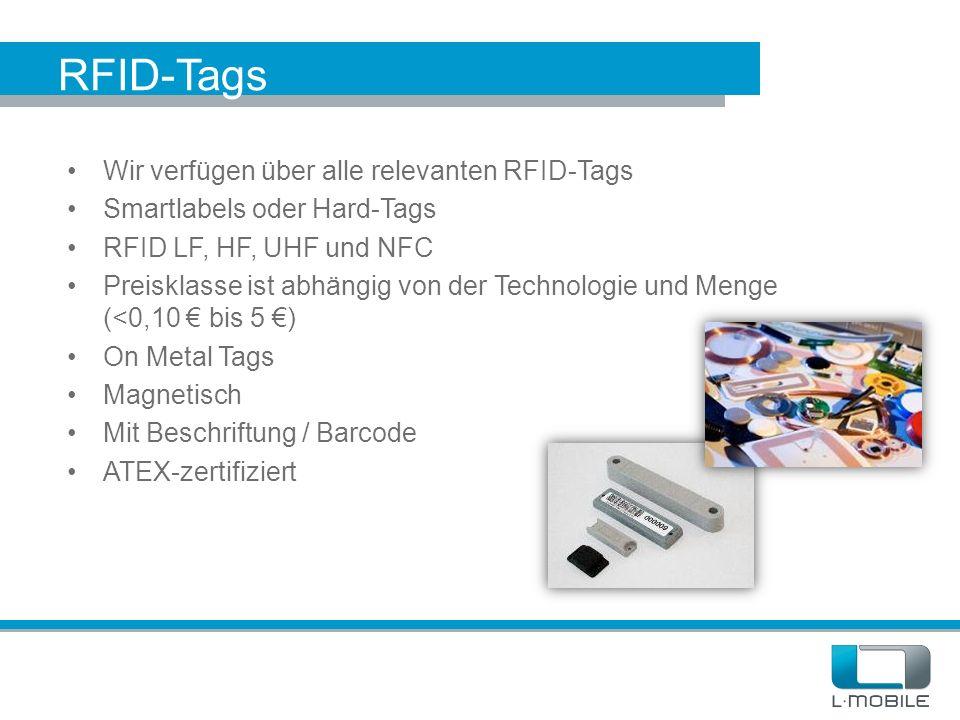 RFID-Tags Wir verfügen über alle relevanten RFID-Tags