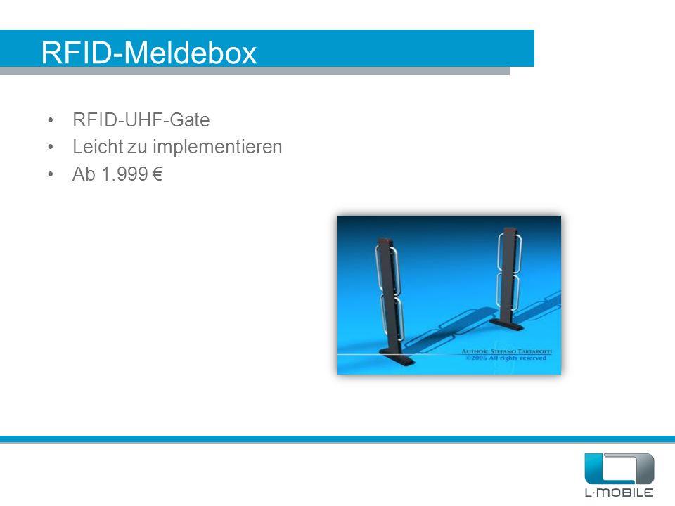 RFID-Meldebox RFID-UHF-Gate Leicht zu implementieren Ab 1.999 €