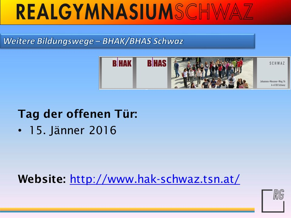 Website: http://www.hak-schwaz.tsn.at/