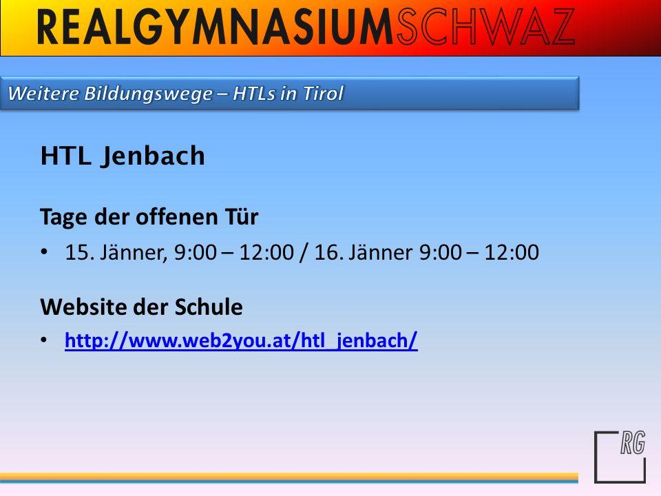 HTL Jenbach Tage der offenen Tür Website der Schule