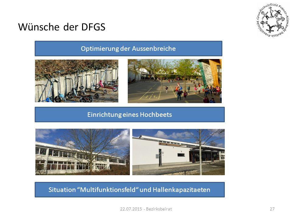 Wünsche der DFGS Optimierung der Aussenbreiche