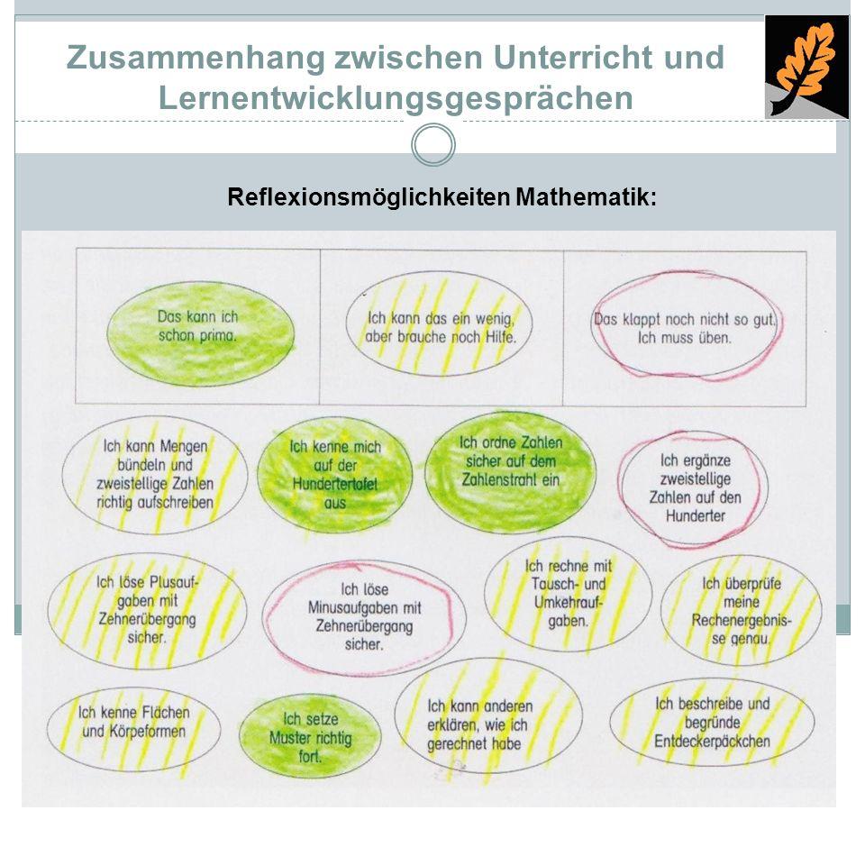 Zusammenhang zwischen Unterricht und Lernentwicklungsgesprächen