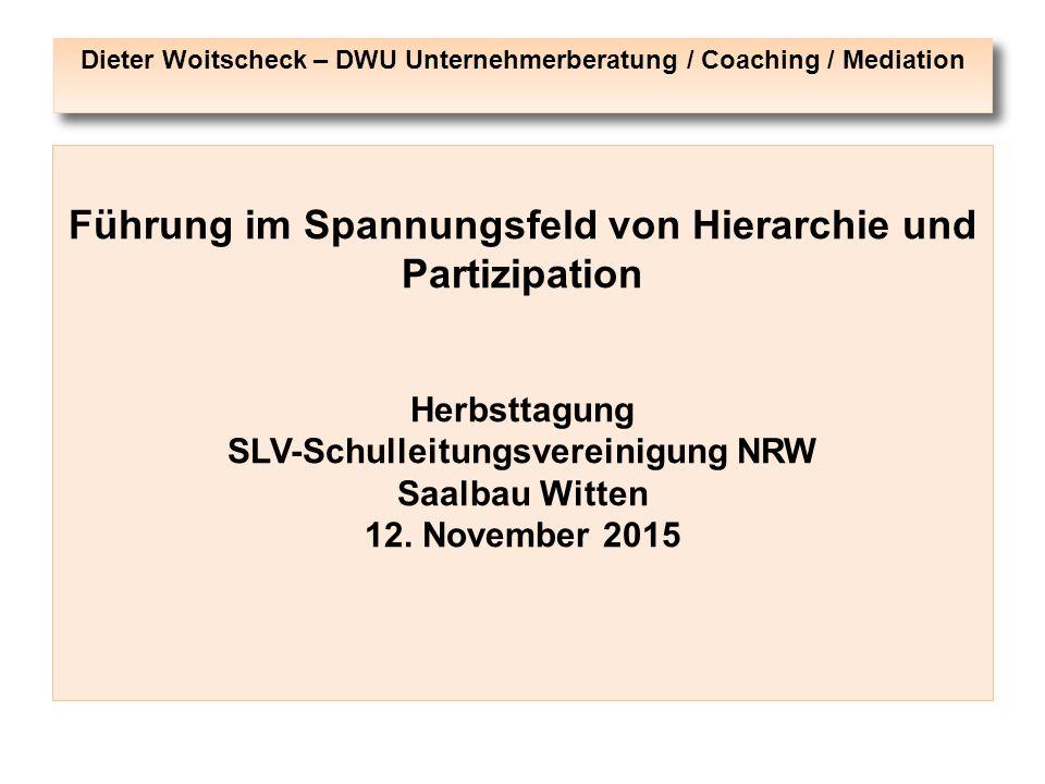 Dieter Woitscheck – DWU Unternehmerberatung / Coaching / Mediation
