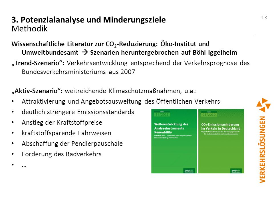 3. Potenzialanalyse und Minderungsziele Methodik