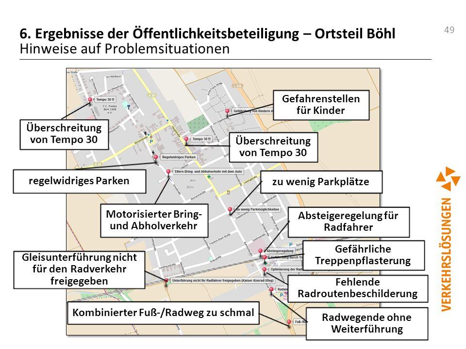 6. Ergebnisse der Öffentlichkeitsbeteiligung – Ortsteil Böhl Hinweise auf Problemsituationen