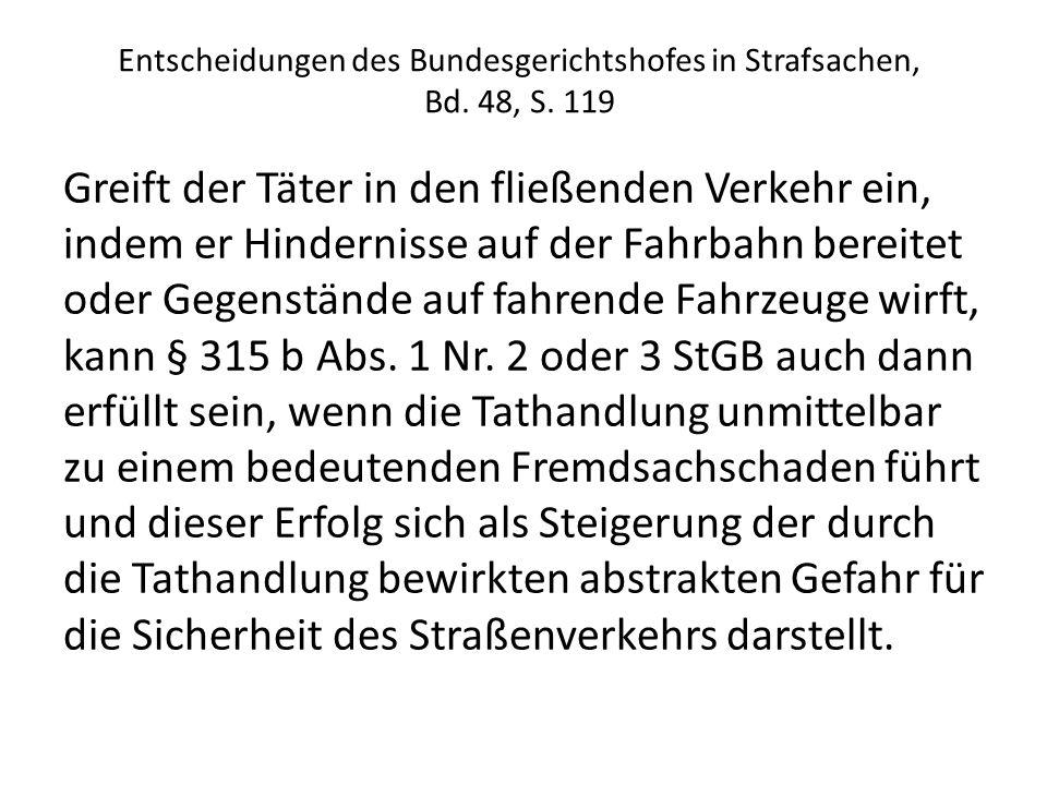 Entscheidungen des Bundesgerichtshofes in Strafsachen, Bd. 48, S. 119