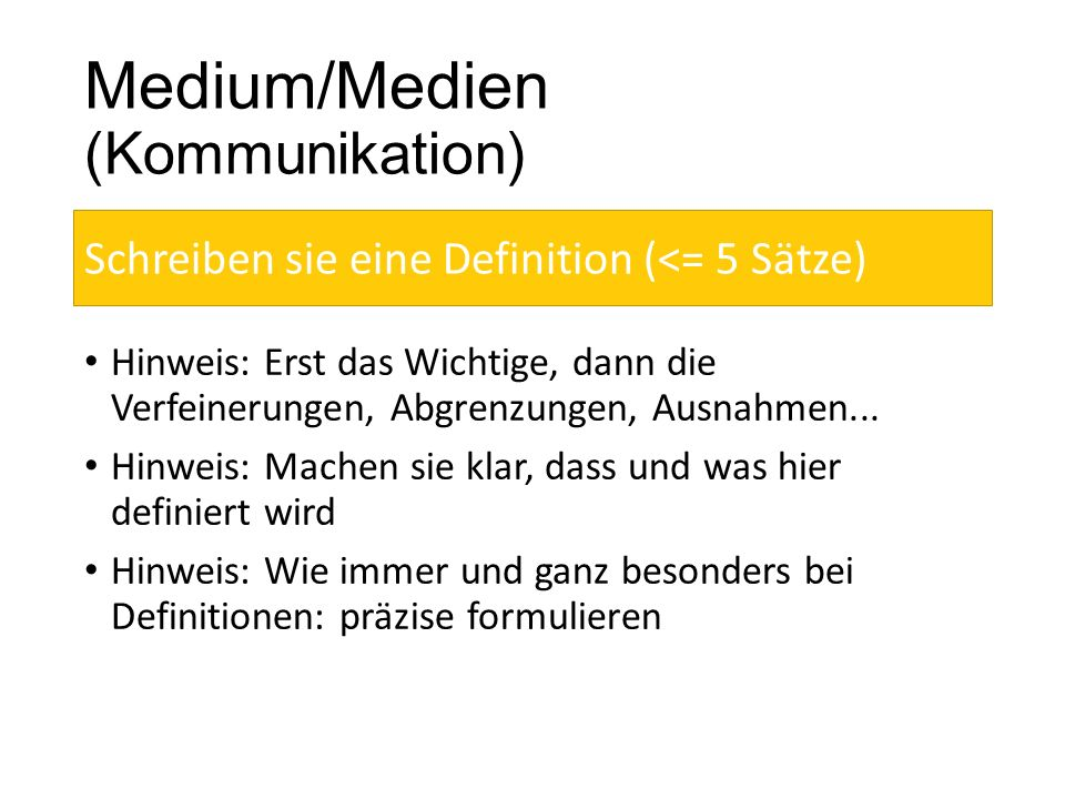 Medium/Medien (Kommunikation)