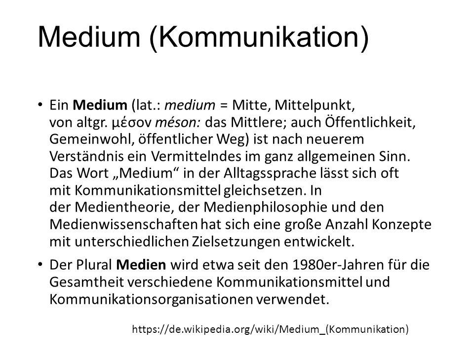 Medium (Kommunikation)