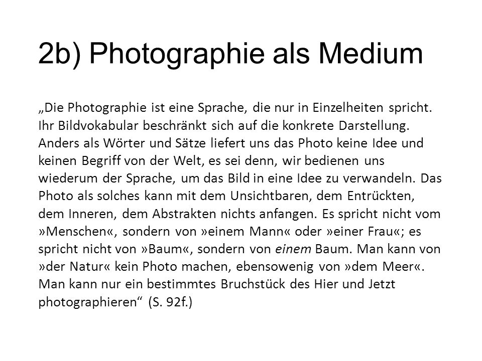 2b) Photographie als Medium