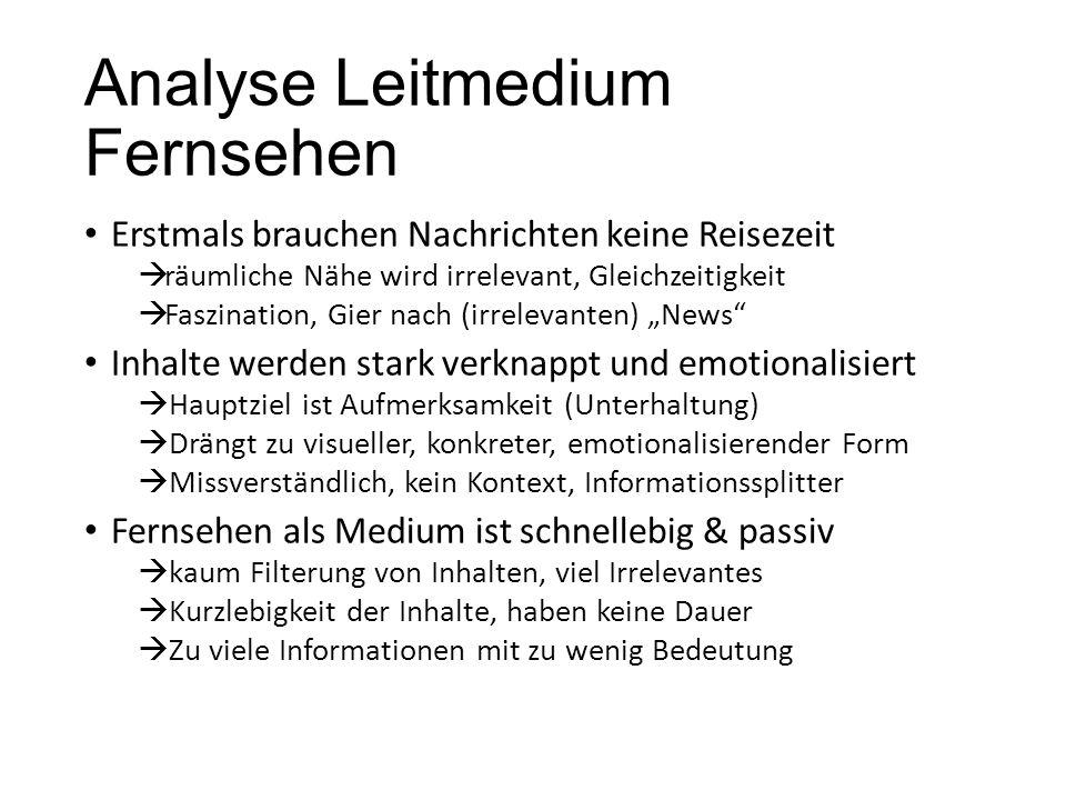 Analyse Leitmedium Fernsehen