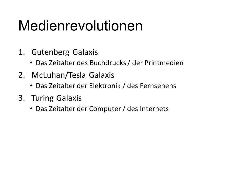 Medienrevolutionen Gutenberg Galaxis McLuhan/Tesla Galaxis
