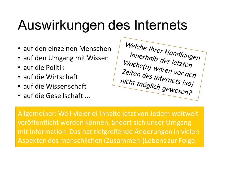 Auswirkungen des Internets