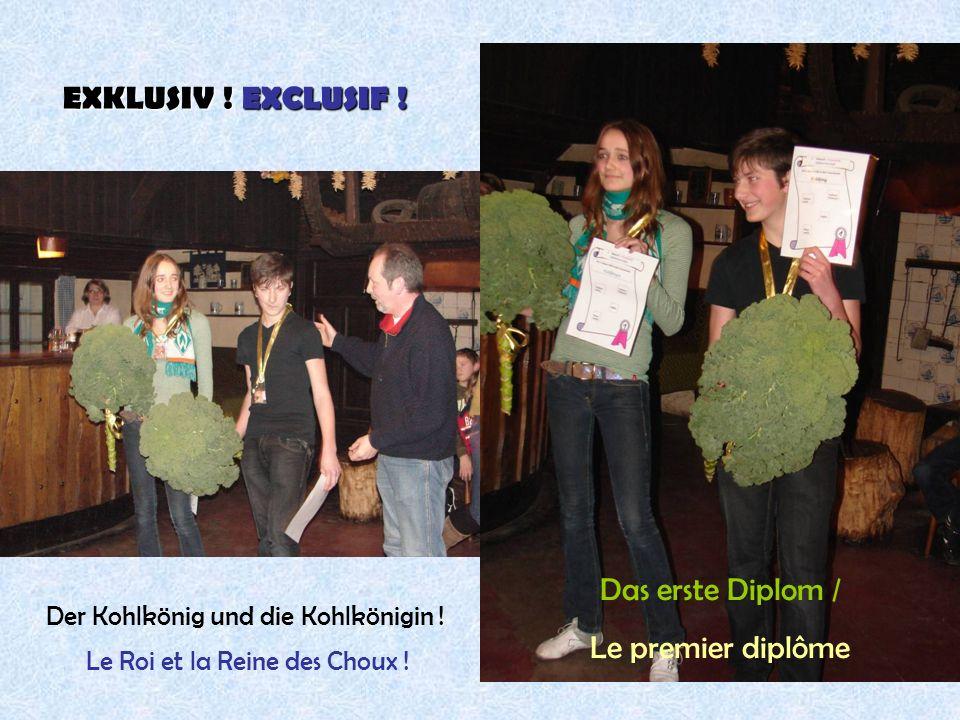 EXKLUSIV ! EXCLUSIF ! Das erste Diplom / Le premier diplôme