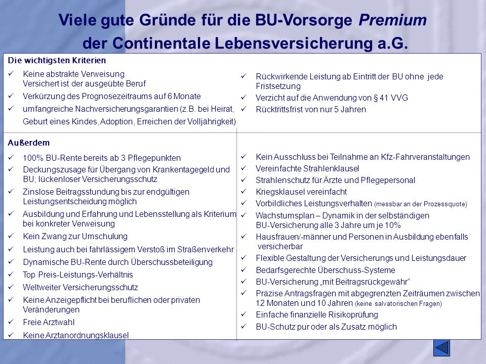 Viele gute Gründe für die BU-Vorsorge Premium