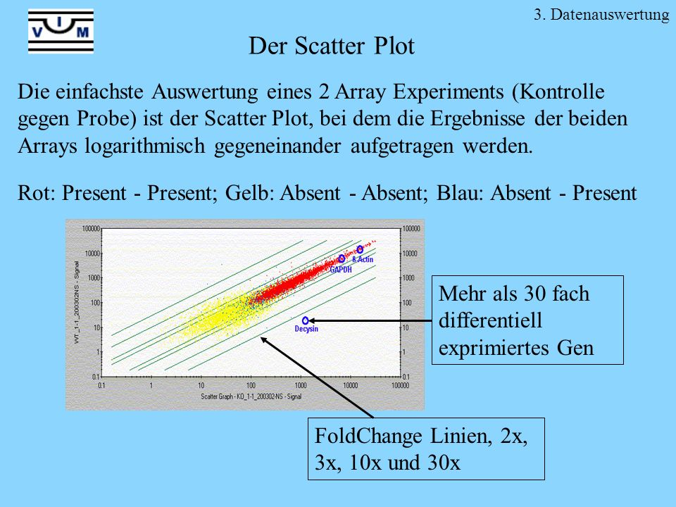 3. Datenauswertung Der Scatter Plot.