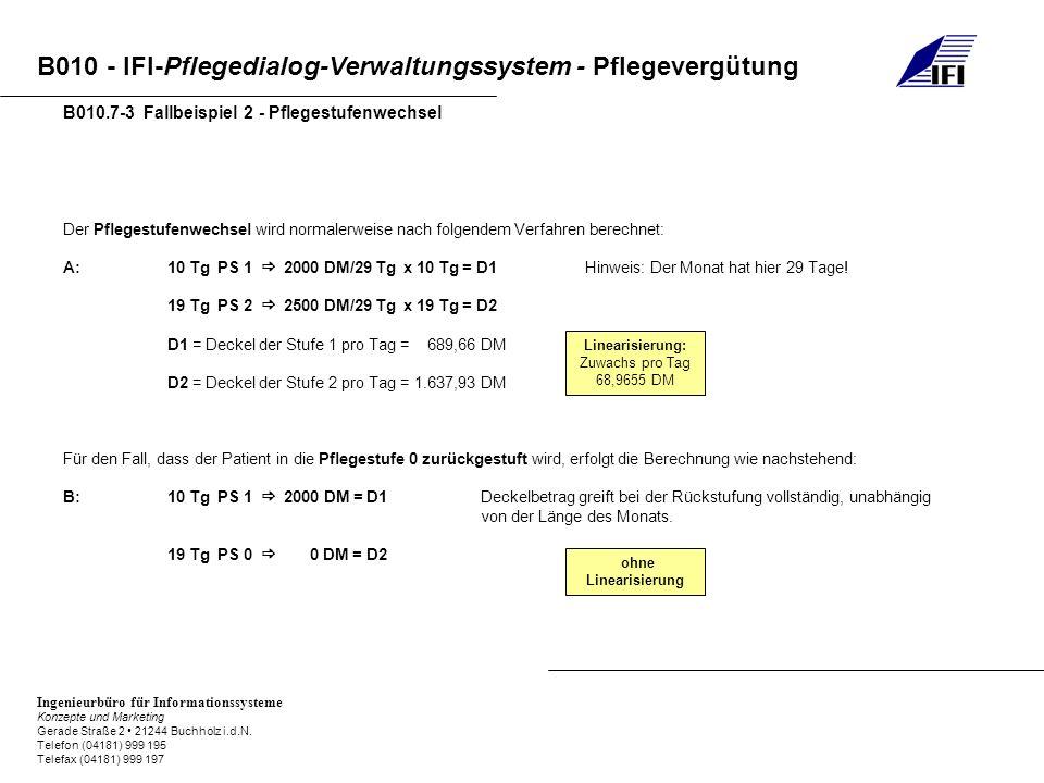 B010.7-3 Fallbeispiel 2 - Pflegestufenwechsel