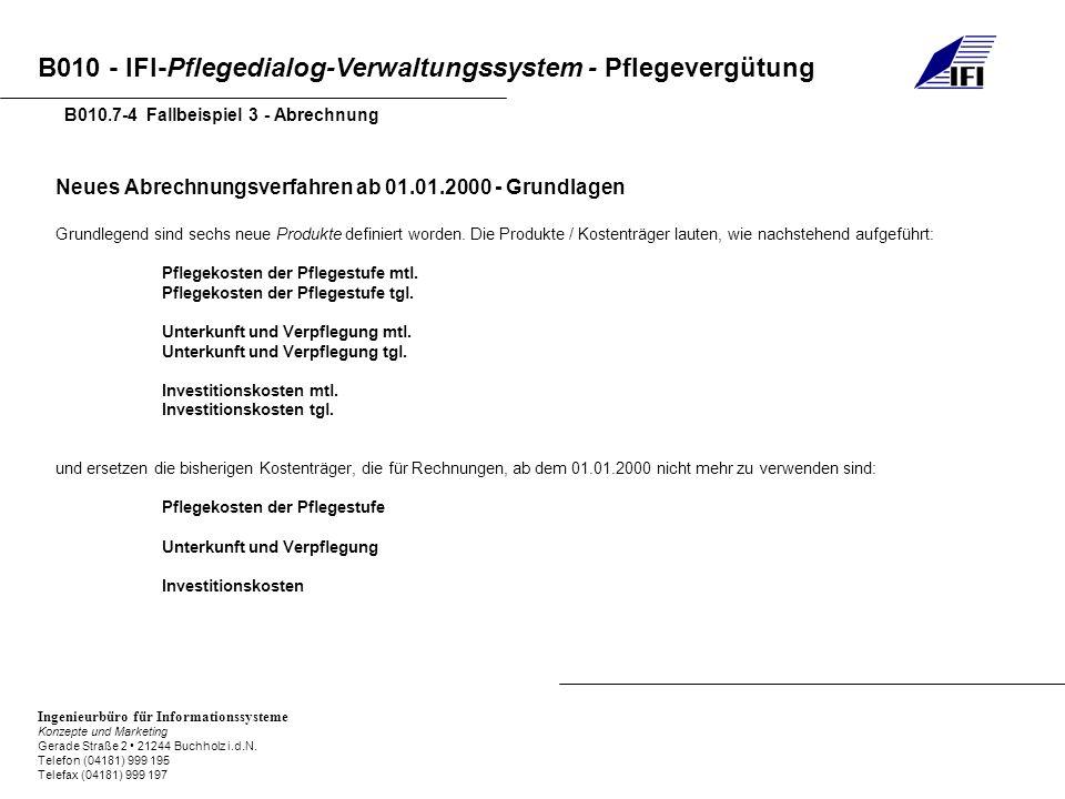 Neues Abrechnungsverfahren ab 01.01.2000 - Grundlagen