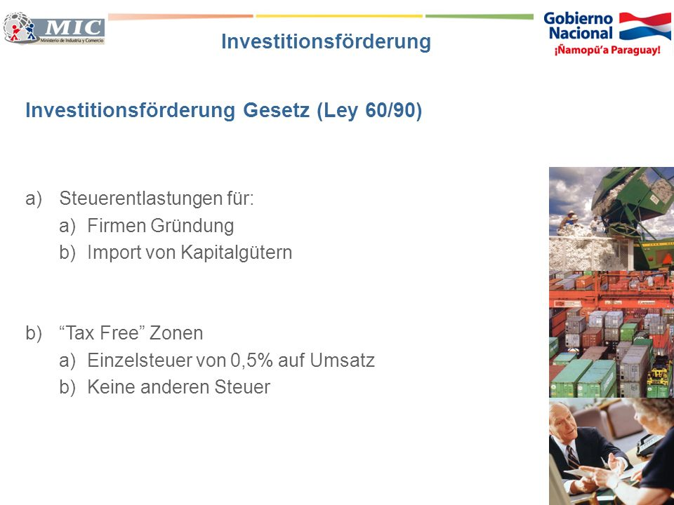 Investitionsförderung Gesetz (Ley 60/90)
