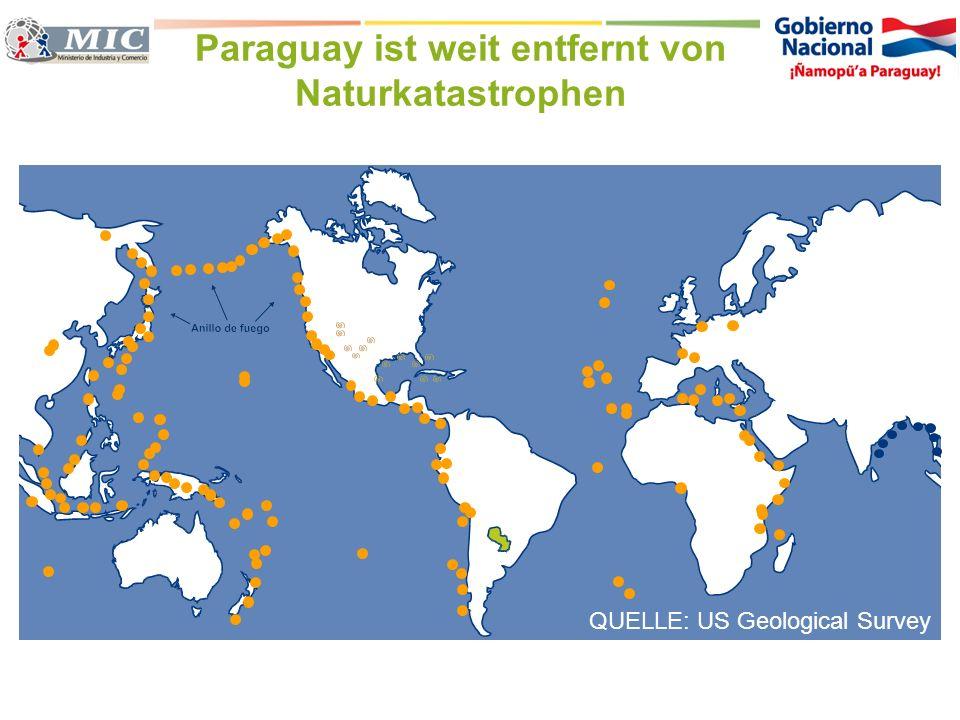 Paraguay ist weit entfernt von Naturkatastrophen