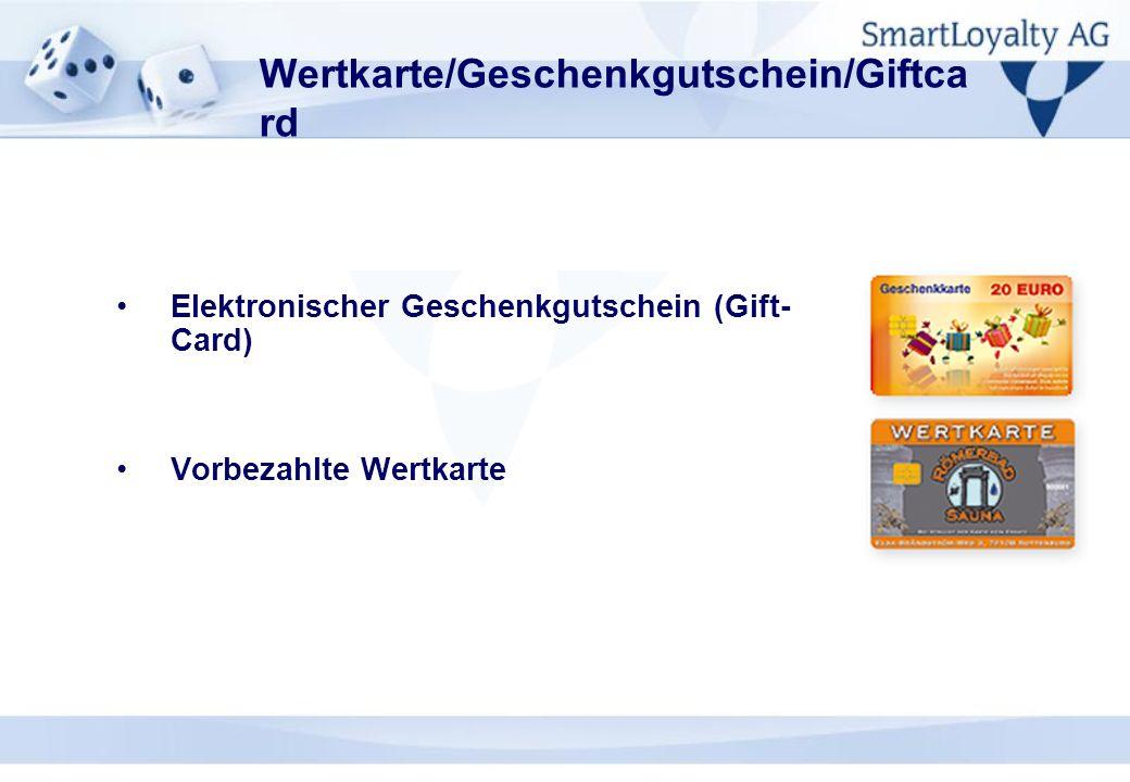 Wertkarte/Geschenkgutschein/Giftcard
