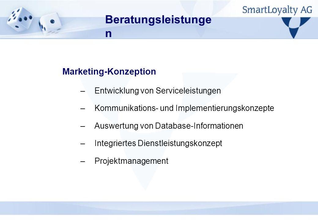 Beratungsleistungen Marketing-Konzeption