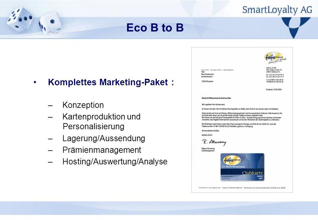 Eco B to B Komplettes Marketing-Paket : Konzeption