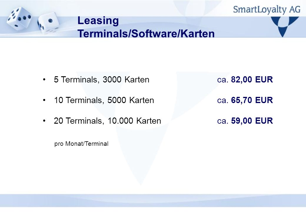 Leasing Terminals/Software/Karten