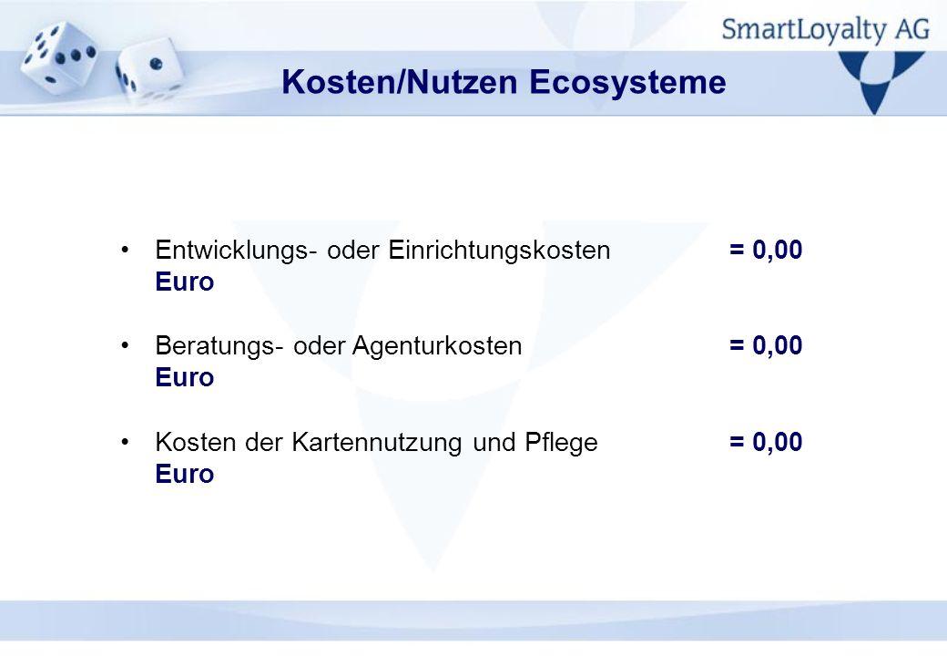 Kosten/Nutzen Ecosysteme