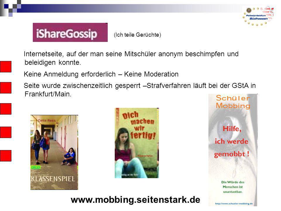 (Ich teile Gerüchte) www.mobbing.seitenstark.dee