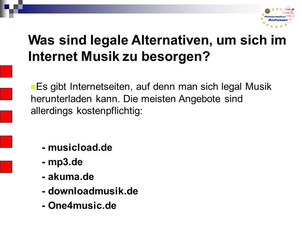 Was sind legale Alternativen, um sich im Internet Musik zu besorgen