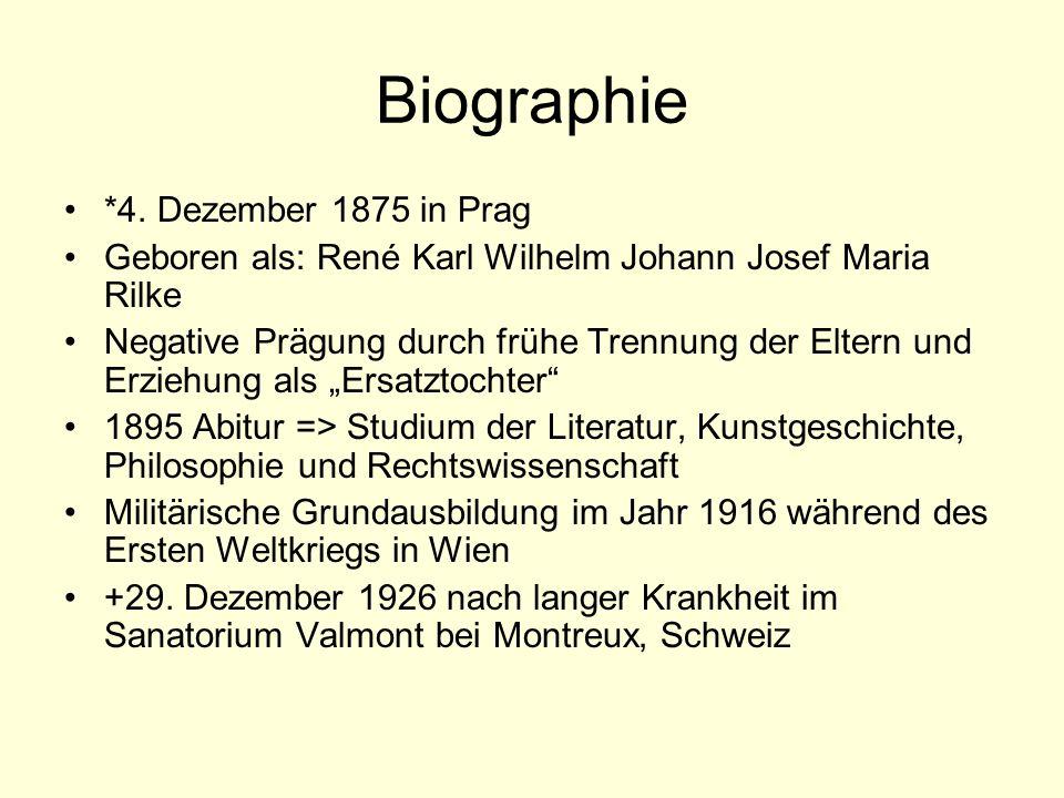 Biographie *4. Dezember 1875 in Prag