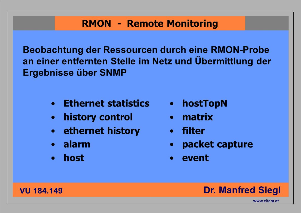 RMON - Remote Monitoring