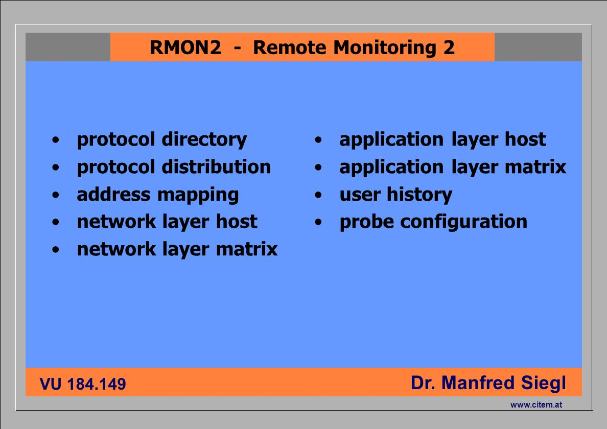 RMON2 - Remote Monitoring 2