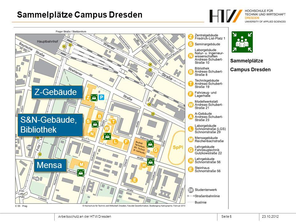 Sammelplätze Campus Dresden