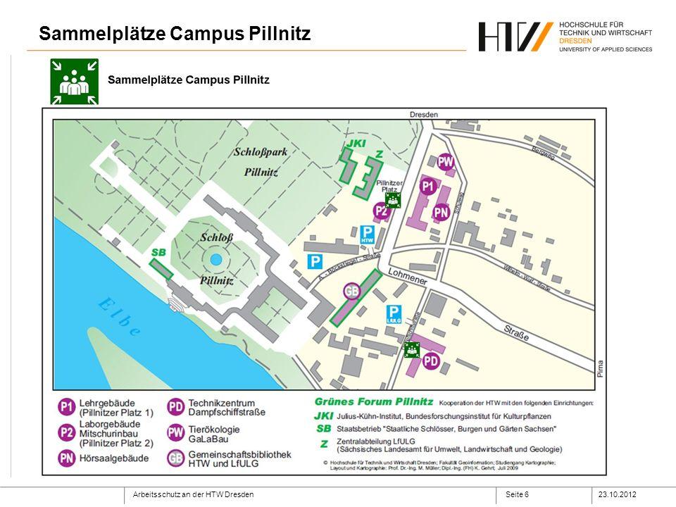 Sammelplätze Campus Pillnitz