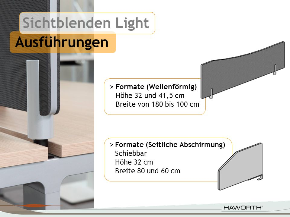 Sichtblenden Light Ausführungen > Formate (Wellenförmig)