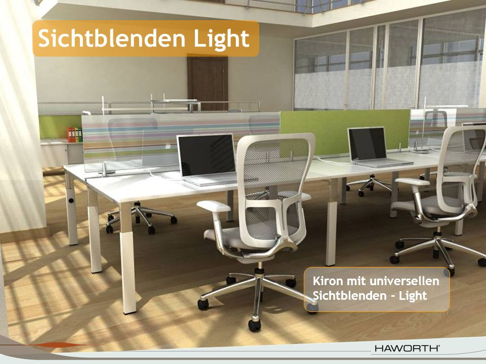 Sichtblenden Light Kiron mit universellen Sichtblenden - Light