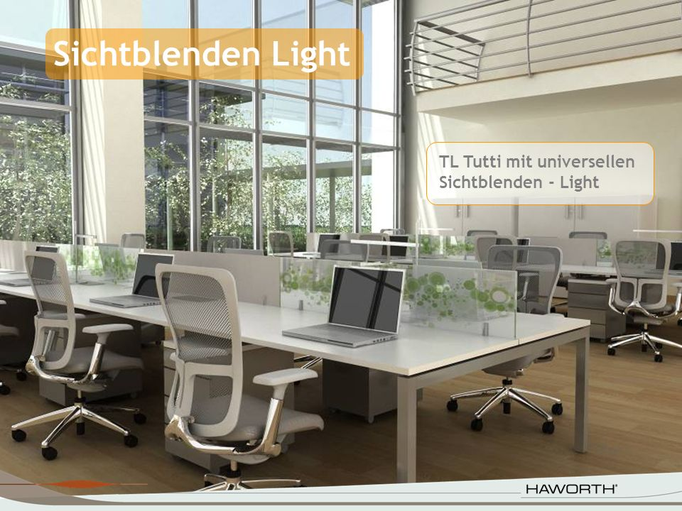 Sichtblenden Light TL Tutti mit universellen Sichtblenden - Light