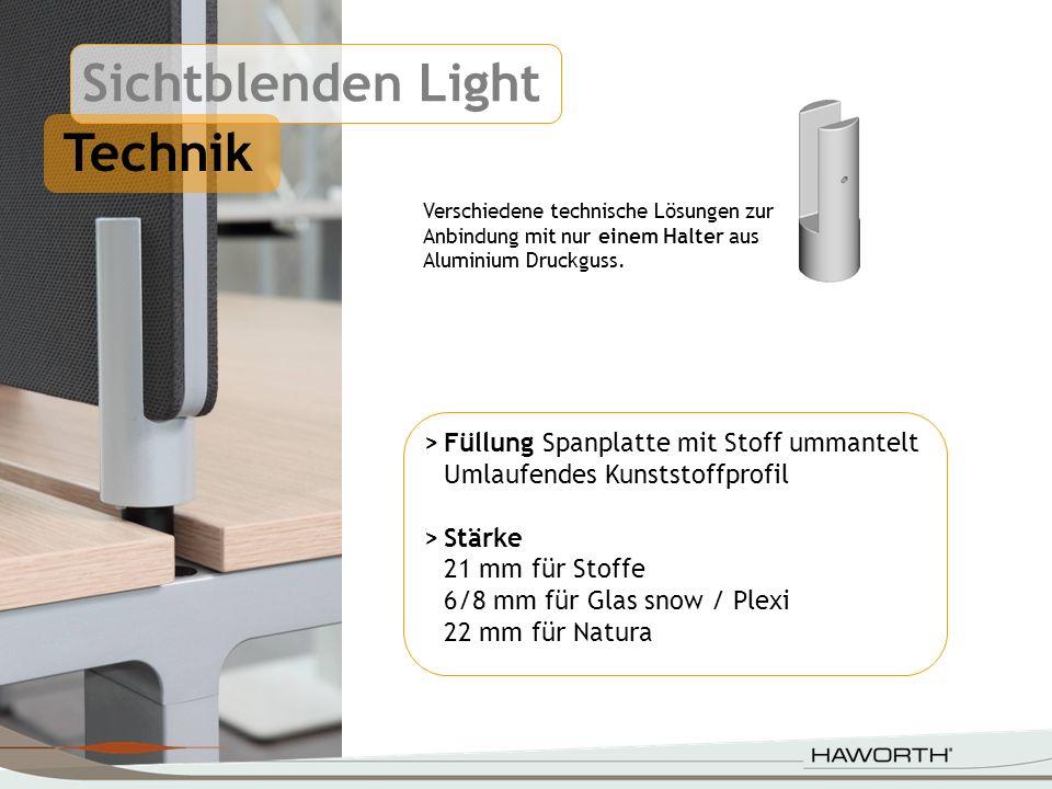 Sichtblenden Light Technik > Füllung Spanplatte mit Stoff ummantelt