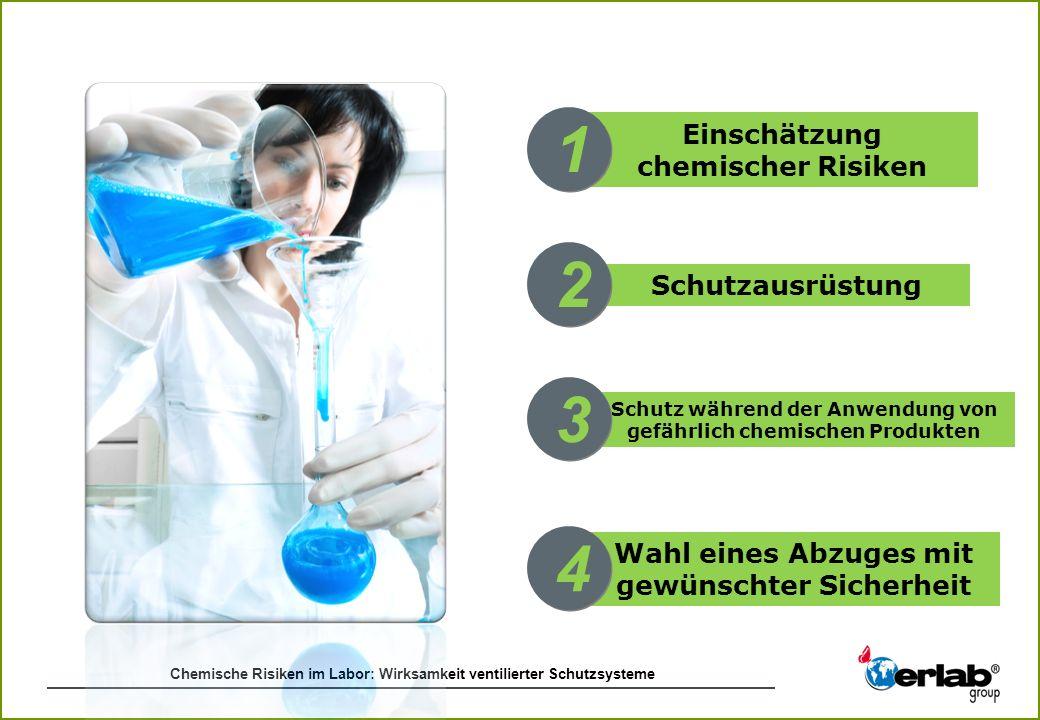 1 2 3 4 Einschätzung chemischer Risiken Schutzausrüstung