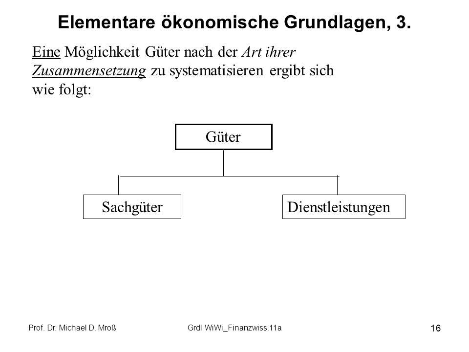 Elementare ökonomische Grundlagen, 3.