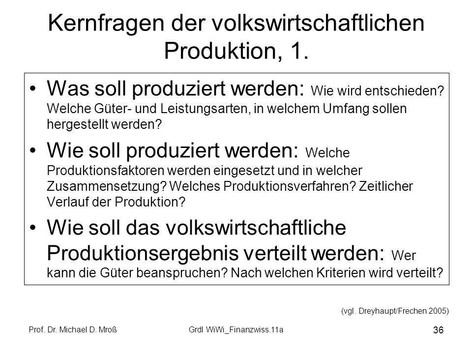 Kernfragen der volkswirtschaftlichen Produktion, 1.