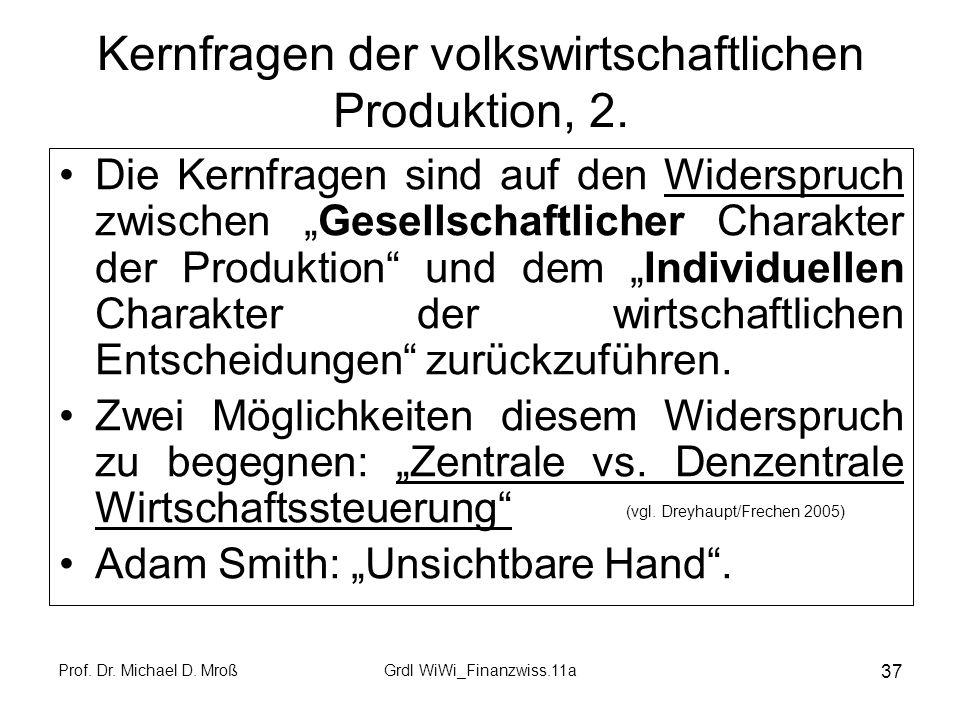 Kernfragen der volkswirtschaftlichen Produktion, 2.