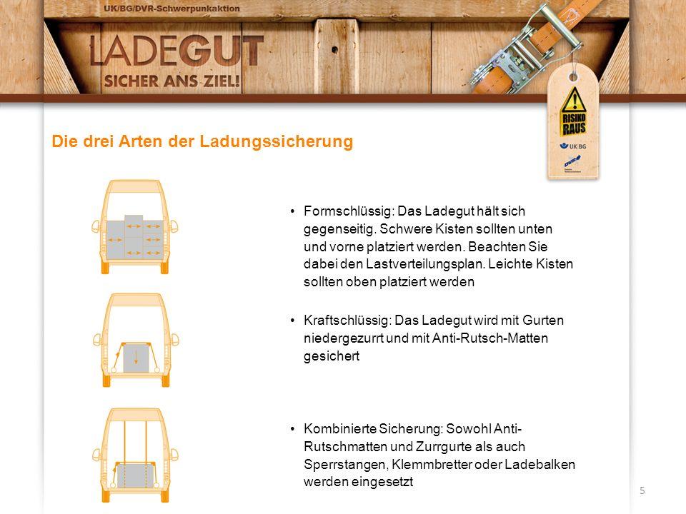 Die drei Arten der Ladungssicherung